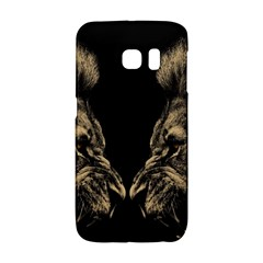 Animals Angry Male Lions Conflict Samsung Galaxy S6 Edge Hardshell Case