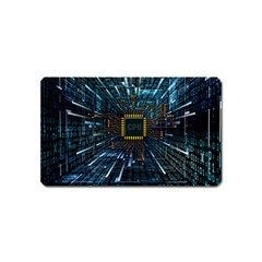 Electronics Machine Technology Circuit Electronic Computer Technics Detail Psychedelic Abstract Patt Magnet (name Card) by Bejoart