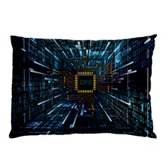 Electronics Machine Technology Circuit Electronic Computer Technics Detail Psychedelic Abstract Patt Pillow Case (two Sides)