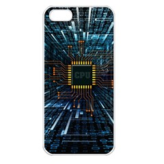 Electronics Machine Technology Circuit Electronic Computer Technics Detail Psychedelic Abstract Patt Apple Iphone 5 Seamless Case (white)