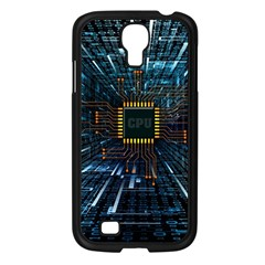 Electronics Machine Technology Circuit Electronic Computer Technics Detail Psychedelic Abstract Patt Samsung Galaxy S4 I9500/ I9505 Case (black) by Bejoart