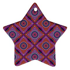 Ethnic Floral Seamless Pattern Star Ornament (two Sides)