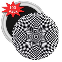 Abstract Animated Ornament Background 3  Magnets (100 Pack)