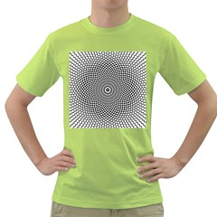 Abstract Animated Ornament Background Green T Shirt