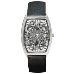 Abstract Animated Ornament Background Barrel Style Metal Watch