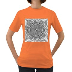 Abstract Animated Ornament Background Women s Dark T Shirt