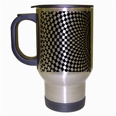 Abstract Animated Ornament Background Travel Mug (silver Gray)