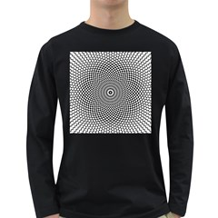Abstract Animated Ornament Background Long Sleeve Dark T Shirt