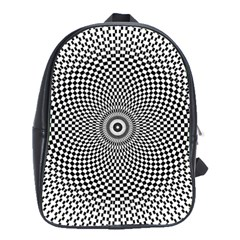 Abstract Animated Ornament Background School Bag (large)
