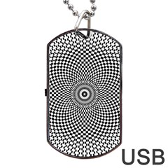 Abstract Animated Ornament Background Dog Tag Usb Flash (two Sides)