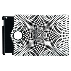Abstract Animated Ornament Background Apple Ipad 2 Flip 360 Case