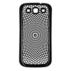 Abstract Animated Ornament Background Samsung Galaxy S3 Back Case (black)