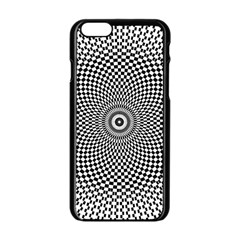 Abstract Animated Ornament Background Apple Iphone 6/6s Black Enamel Case