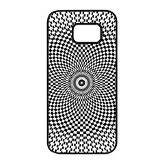 Abstract Animated Ornament Background Samsung Galaxy S7 Edge Black Seamless Case
