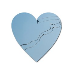 Airplane Airplanes Blue Sky Heart Magnet by Mariart