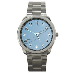 Airplane Airplanes Blue Sky Sport Metal Watch by Mariart