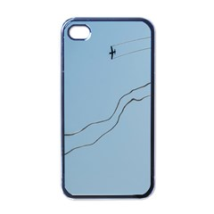 Airplane Airplanes Blue Sky Apple Iphone 4 Case (black)