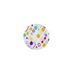 Colorful Geometric Graphic 1  Mini Buttons