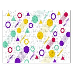 Colorful Geometric Graphic Rectangular Jigsaw Puzzl