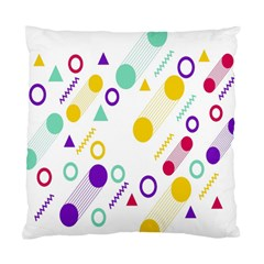 Colorful Geometric Graphic Standard Cushion Case (one Side)