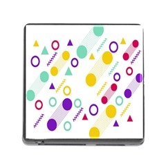 Colorful Geometric Graphic Memory Card Reader (square 5 Slot) by Jojostore