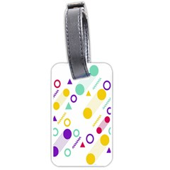 Colorful Geometric Graphic Luggage Tags (two Sides) by Jojostore