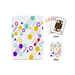 Colorful Geometric Graphic Playing Cards (mini)