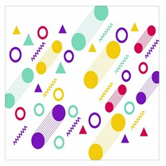 Colorful Geometric Graphic Large Satin Scarf (square) by Jojostore