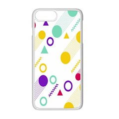 Colorful Geometric Graphic Apple Iphone 8 Plus Seamless Case (white)