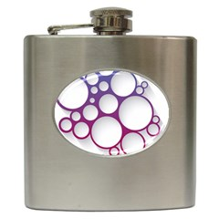 Circle Graphic Hip Flask (6 Oz) by AnjaniArt