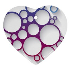 Circle Graphic Heart Ornament (two Sides)