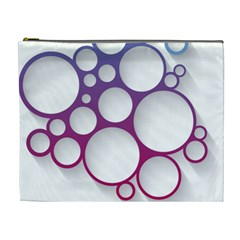 Circle Graphic Cosmetic Bag (xl)