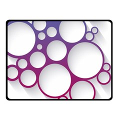Circle Graphic Fleece Blanket (small)