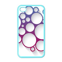 Circle Graphic Apple Iphone 4 Case (color)