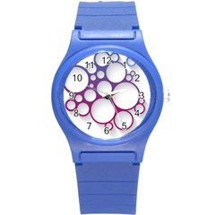 Circle Graphic Round Plastic Sport Watch (s)
