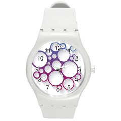 Circle Graphic Round Plastic Sport Watch (m)