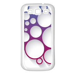 Circle Graphic Samsung Galaxy S3 Back Case (white)