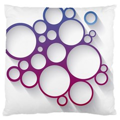 Circle Graphic Standard Flano Cushion Case (one Side)