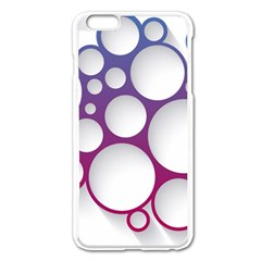 Circle Graphic Apple Iphone 6 Plus/6s Plus Enamel White Case