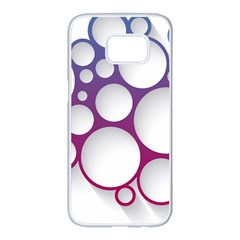 Circle Graphic Samsung Galaxy S7 Edge White Seamless Case by AnjaniArt