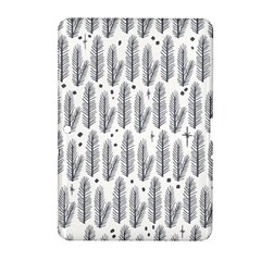 Christmas Pine Pattern Organic Hand Drawn Modern Black And White Samsung Galaxy Tab 2 (10 1 ) P5100 Hardshell Case  by snek