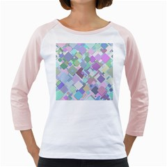 Colorful Background Multicolored Girly Raglan