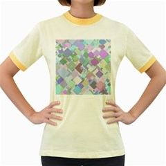 Colorful Background Multicolored Women s Fitted Ringer T Shirt