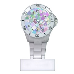 Colorful Background Multicolored Plastic Nurses Watch