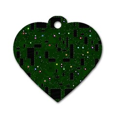 Board Conductors Circuits Dog Tag Heart (one Side)