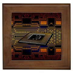 Processor Cpu Board Circuits Framed Tiles by Bejoart