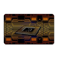 Processor Cpu Board Circuits Magnet (rectangular) by Bejoart
