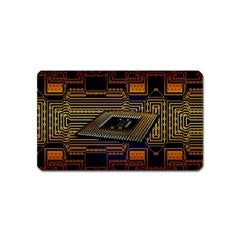 Processor Cpu Board Circuits Magnet (name Card) by Bejoart