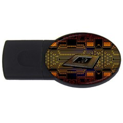 Processor Cpu Board Circuits Usb Flash Drive Oval (4 Gb) by Bejoart