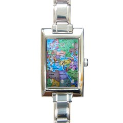 Globe World Map Maps Europe Rectangle Italian Charm Watch